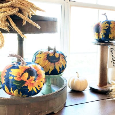 Foam Pumpkins Crafts