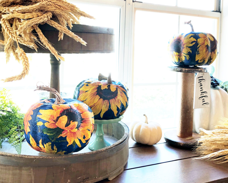 Foam Pumpkins Crafts Hard To Believe They Were A Dollar Refresh Restyle
