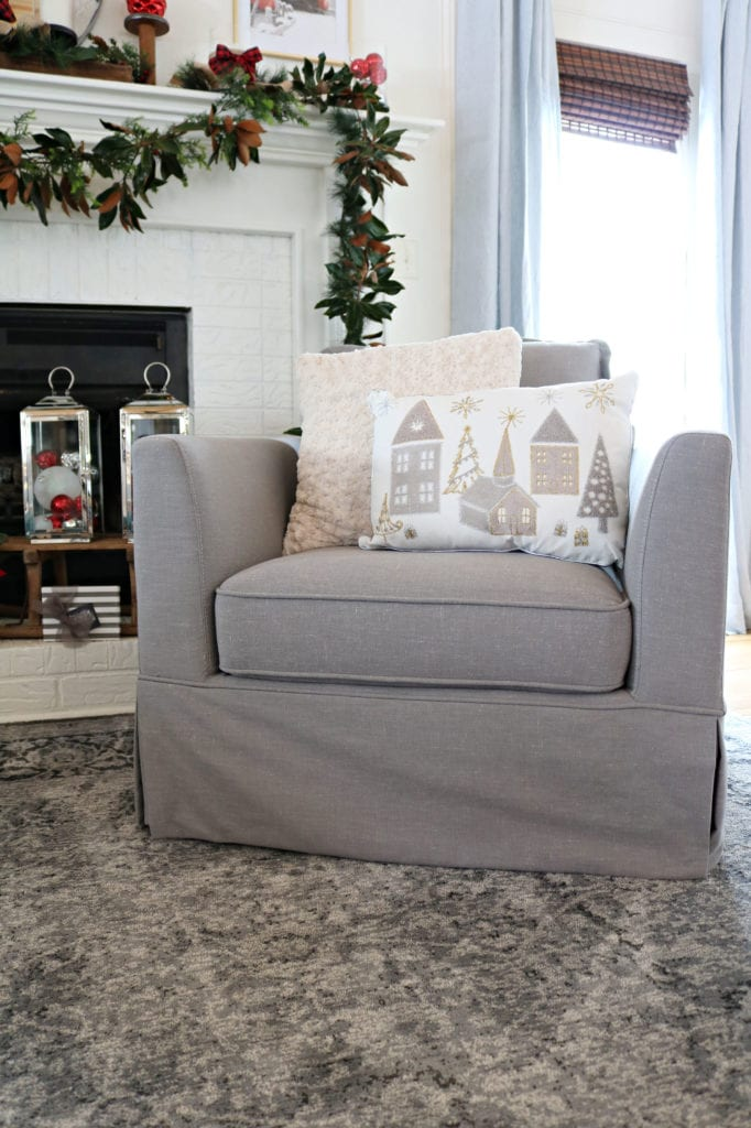 BHG Chair Pillow Affordable Christmas Decor