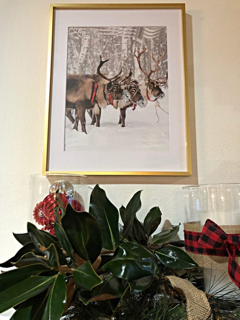 Christmas bag art BHG frame is Affordable Christmas Decor