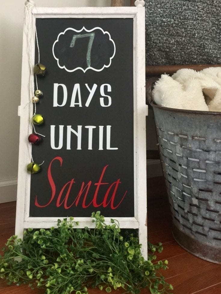 Days Until Santa Cricut DIY