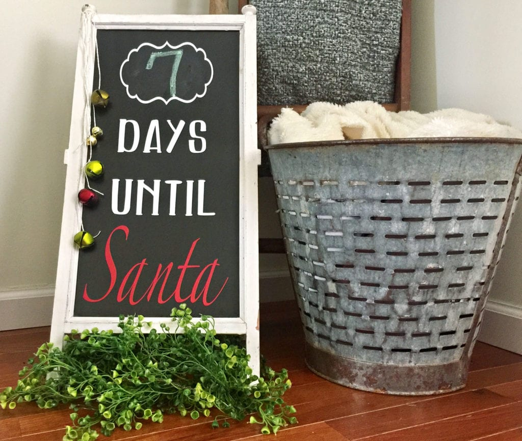 Days Until Santa comes Cricut idea