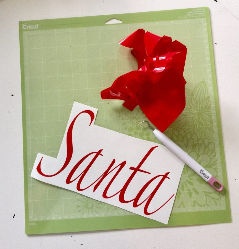 Santa sign with Cricut