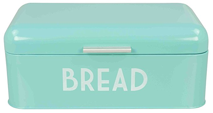 Teal turquoise bread box