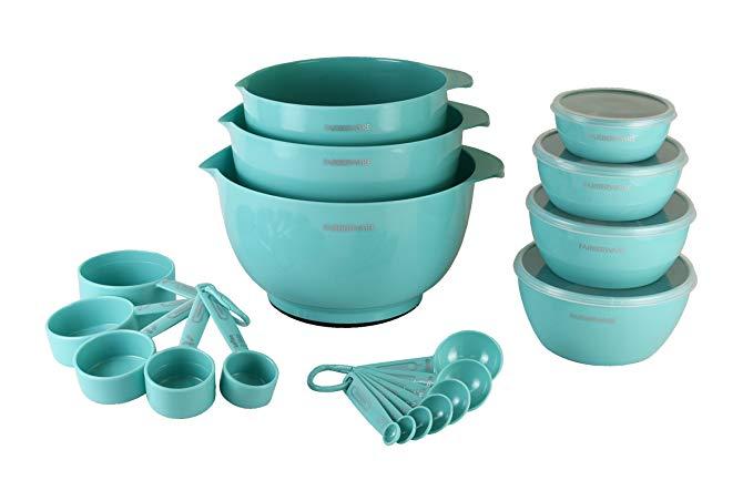 baking set turquoise aqua