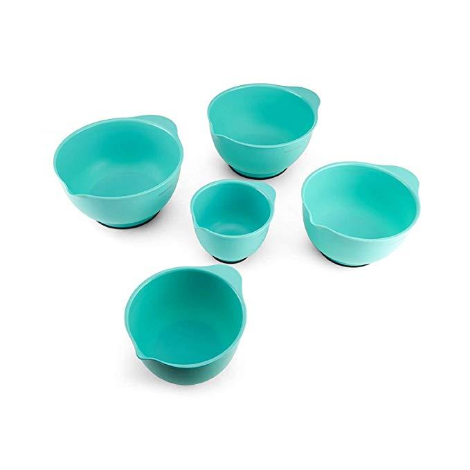 turquoise mixing bowl set