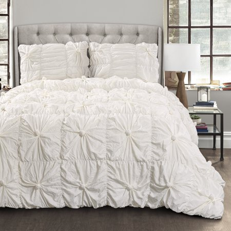 Bella White Comforter - Affordable White Bedding Ideas