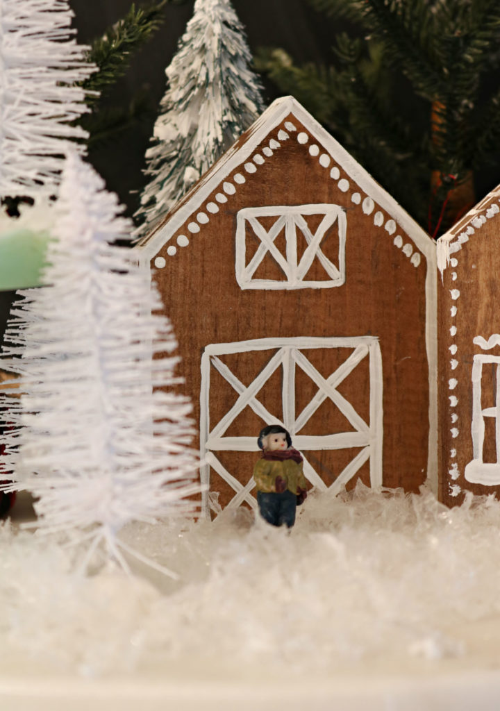 Gingerbread house barn - easy diy for houses too