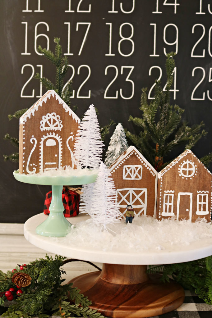 Gingerbread house village - DIY Gingerbread house and barn