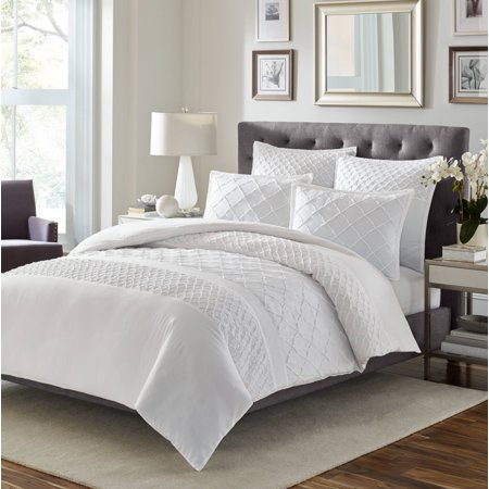 Mosaic White Comforter - Affordable White Bedding Ideas