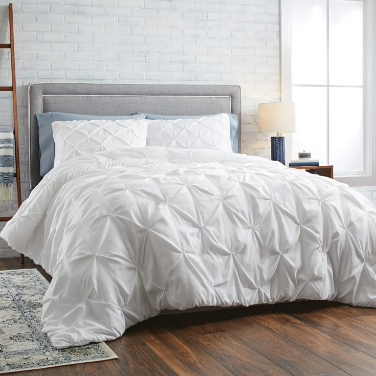 Pintuck-Comforter - Affordable White Bedding Ideas