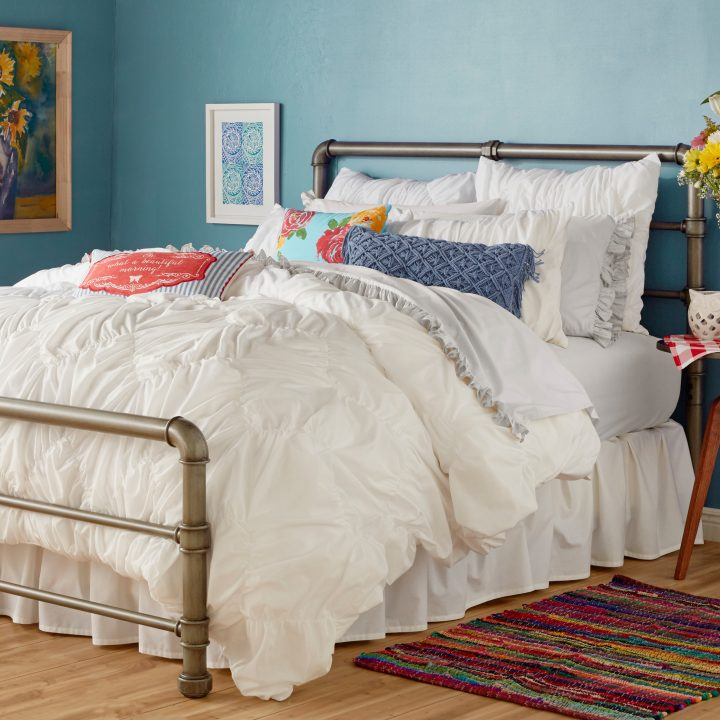 Ruched Chevron Bedding - Affordable White Bedding Ideas