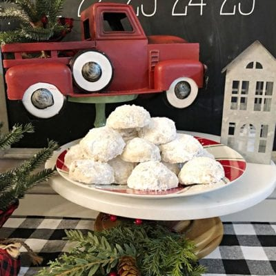 Snowball Pecan Cookies with Lemon