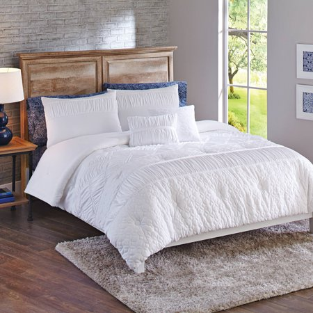 Textured Comforter Set - Affordable White Bedding Ideas
