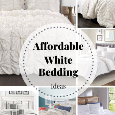 White Bedding Ideas - Affordable