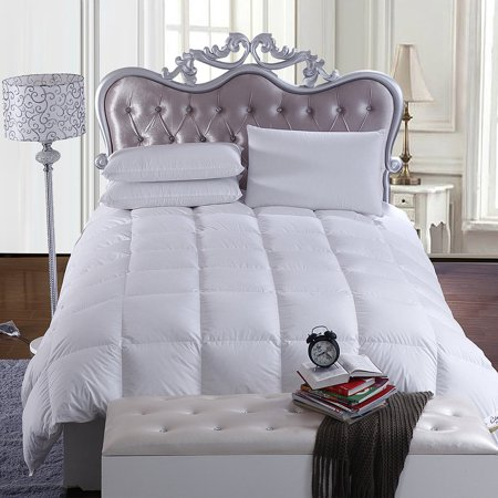 White Duvet Duck Feather Quilt - Affordable White Bedding Ideas