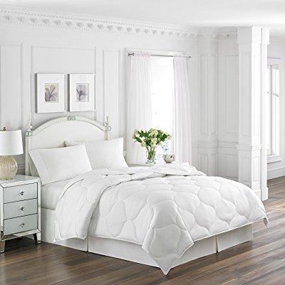 Affordable White Bedding Ideas- White Trellis Quilted Comforter