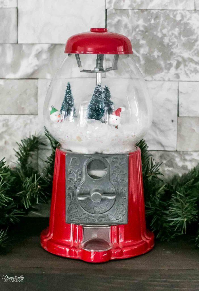 100+ Thrift Store Makeovers - Winter-Wonderland-Gumball-Machine
