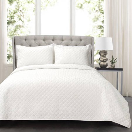 Diamond shape - classic Affordable White Bedding Ideas