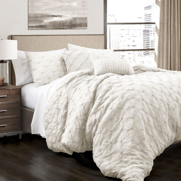pintuck-queen - Affordable White Bedding Ideas