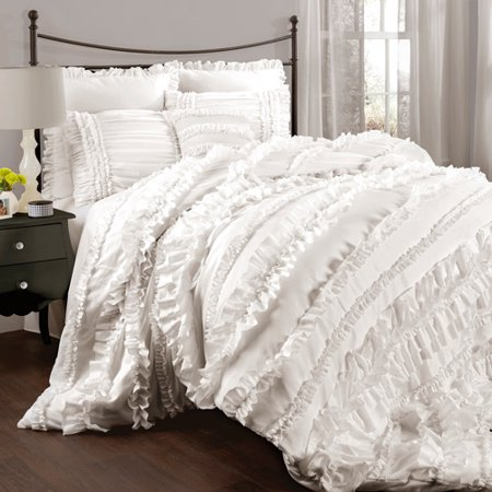 Affordable White Bedding Ideas - ruffled-white