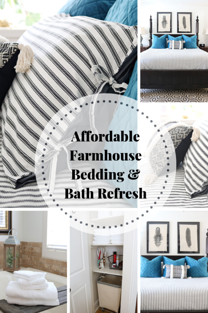 Bedding & Bath refresh - affordable ideas with neutrals