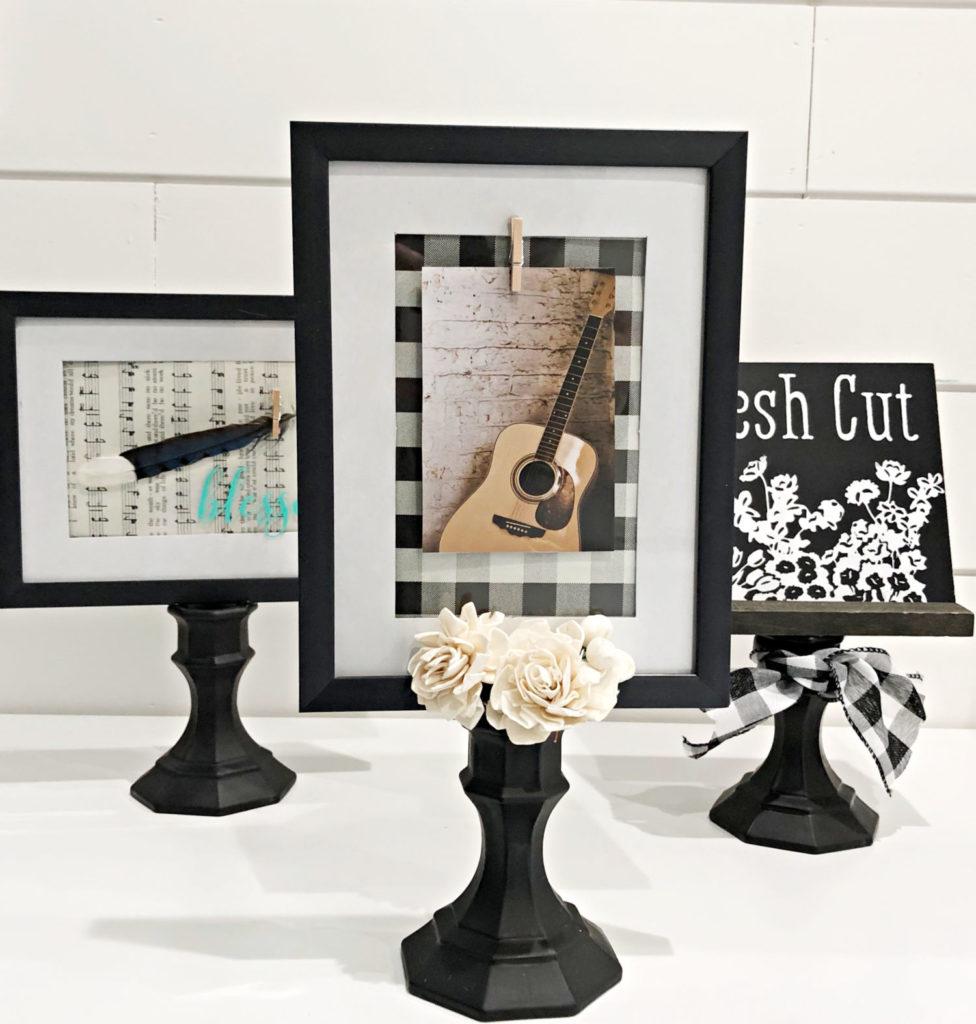 DIY Pedestal frame Dollar Store idea
