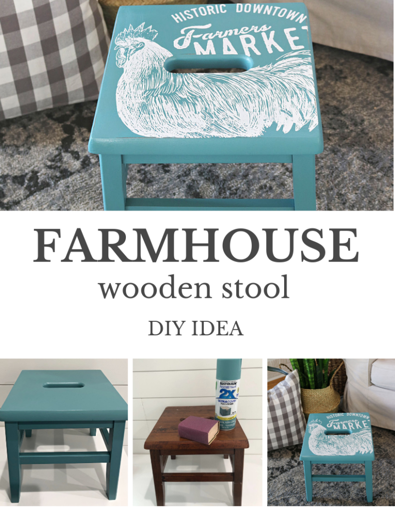 EASY DIY WOODEN STOOL MAKEOVER