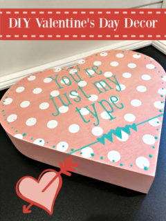 Polka dot heart DIY Decor