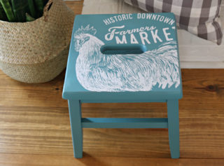 painted wooden stool idea