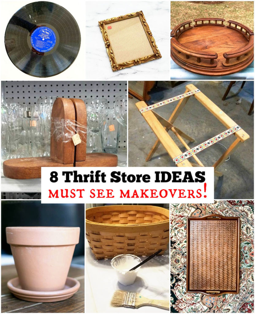 8 Thrift store makeovers including a lazy Susan DIY