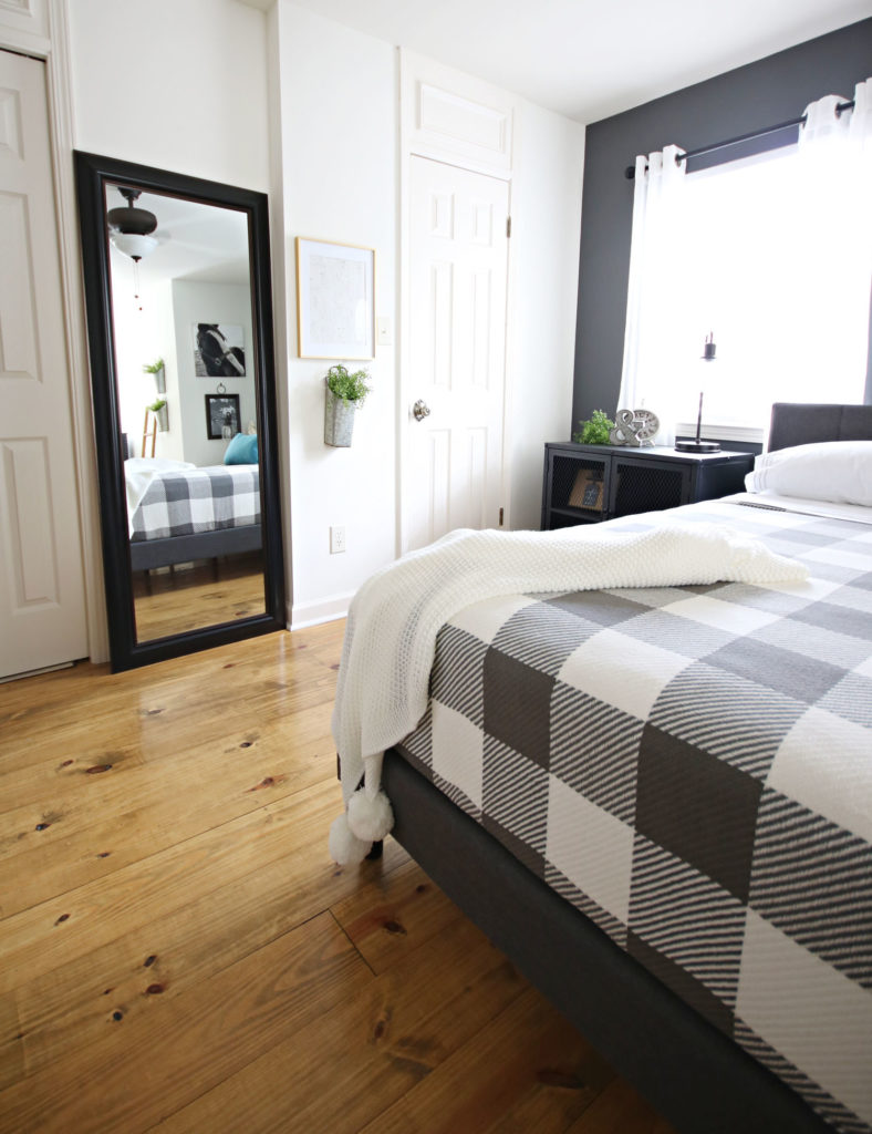 BHG mirror and bedding - Modern Farmhouse Bedroom Makeover