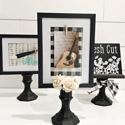 DIY Pedestal frame Dollar Store