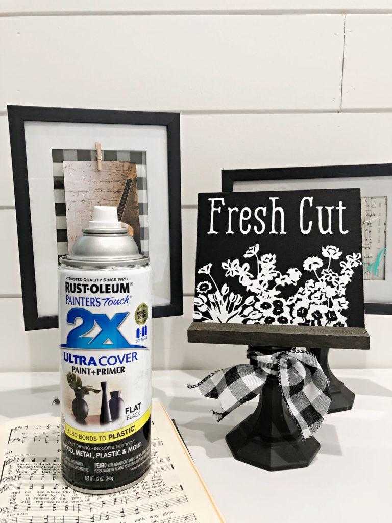 How to DIY Pedestal frame with Rustoleum ultra flat black