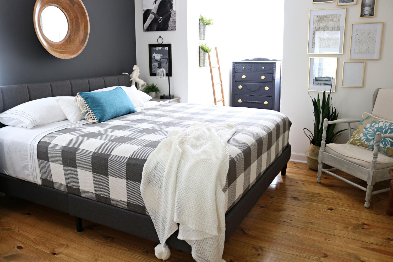 modern farmhouse bedroom makeover diy  refresh restyle