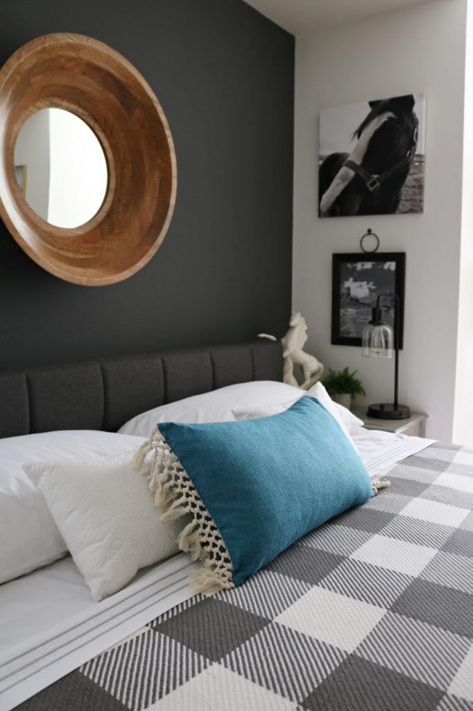 Modern farmhouse bedding perfect for Modern Farmhouse Bedroom Makeover