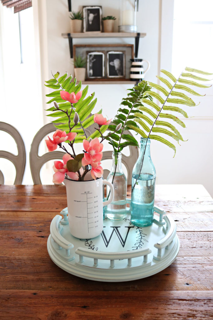 how to diy a lazy susan - quick idea using spray paint and Chalk Couture