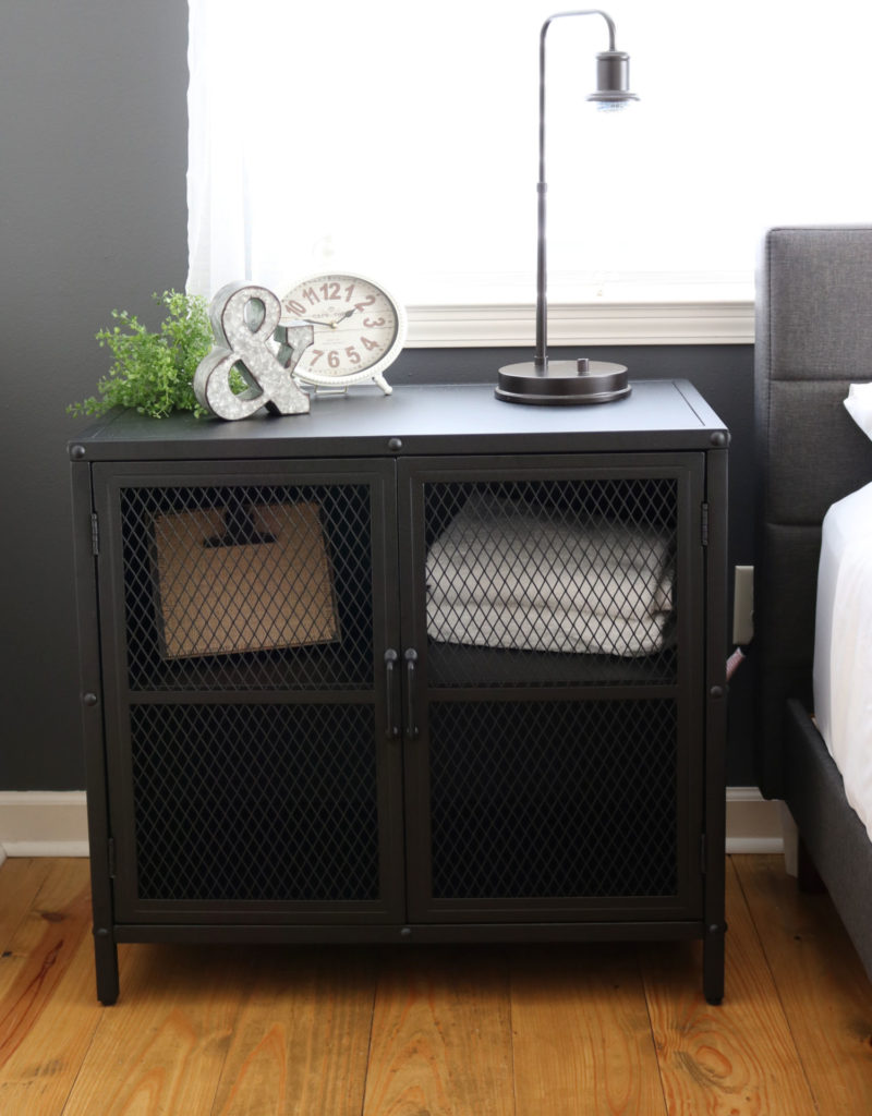 industrial cabinet - Modern Farmhouse Bedroom Makeover