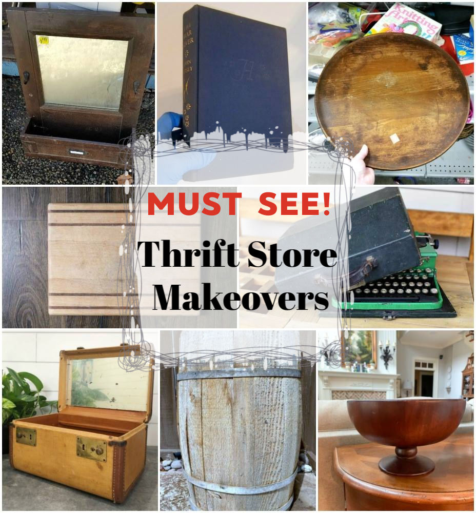 Thrift Store Ideas to buy - Vintage Train Case Makeover