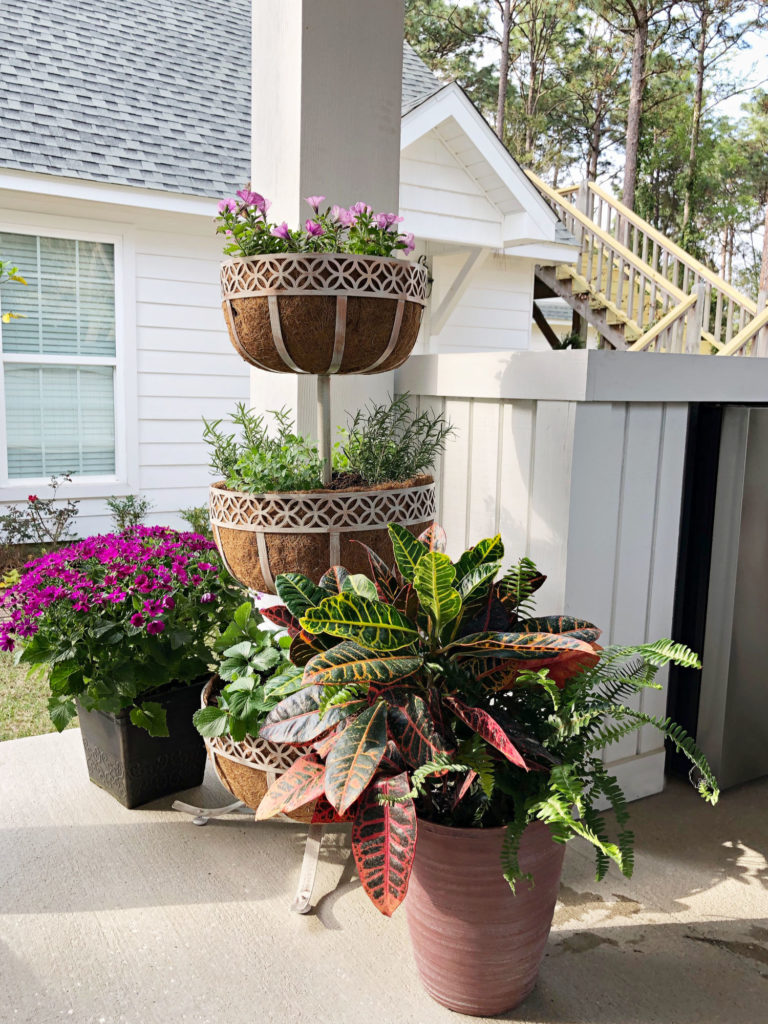 Tiered planter for porch