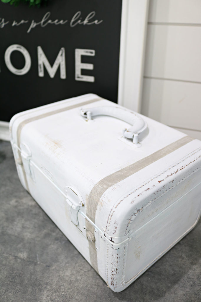 shabby painted train case - Vintage Train Case Makeover
