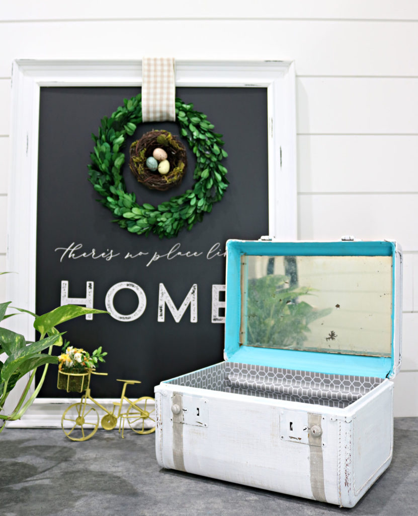 thrift store train case diy - create this look in less than an hour