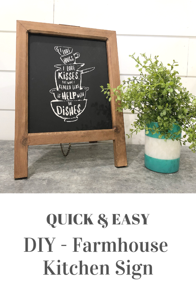 FARMHOUSE kitchen sign DIY - quick and easy idea chalkboard