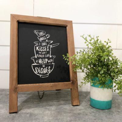 Farmhouse Kitchen Chalkboard Sign