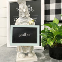 Kitchen rooster chalkboard decor
