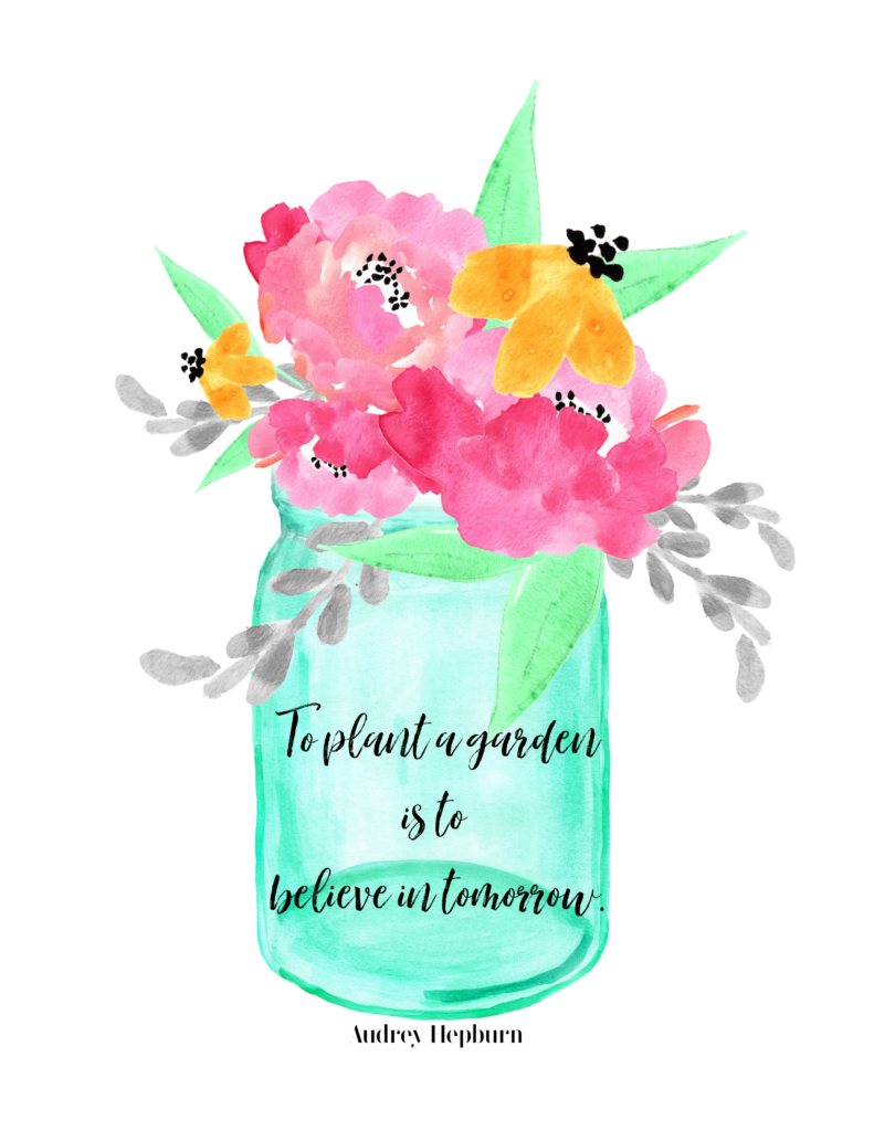 Plant a Garden Free Print - Container