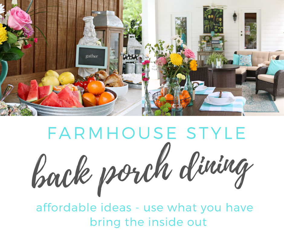 affordable porch dining - Casual farmhouse style
