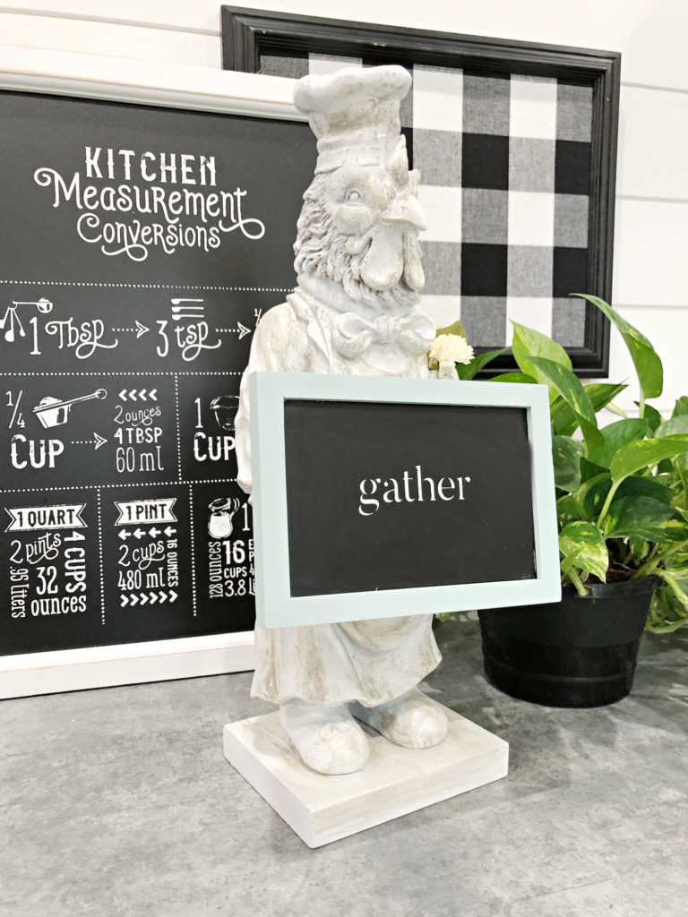 kitchen accessories rooster chalkboard