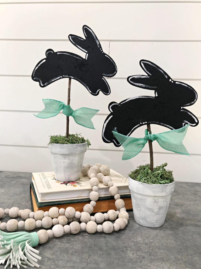 make these bunny topiaries