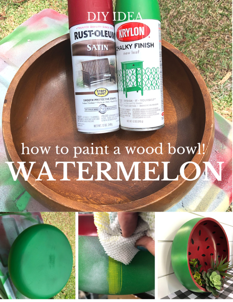 How to DIY paint a watermelon bowl